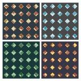 Rhombuses w rhombuses seamles wzorach Zdjęcie Stock
