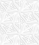 Rhombuses white layered seamless Stock Photography