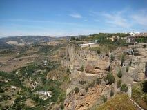 从Rhonda的光彩的西班牙风景 免版税库存图片