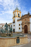 Rhonda, Spain, architecture and fountain Royalty Free Stock Photography