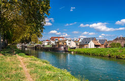 Rhone – Rhine Canal in Alsace, France Royalty Free Stock Photography