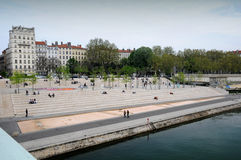 The Rhone banks in Lyon Royalty Free Stock Photography