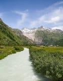 Rhone glaciär Arkivbilder