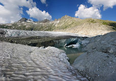 Rhone glacier Stock Photo