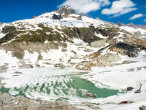 Rhone glacier melting Royalty Free Stock Photos