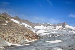 Rhone glacier Royalty Free Stock Photography
