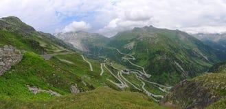 Rhone glacier in Swiss alps Stock Image