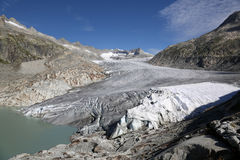Rhone Glacier in Switzerland Stock Photography