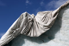 Rhone Glacier in Switzerland covered with fleece against melting Royalty Free Stock Photos