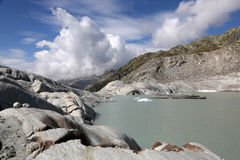 Rhone Glacier in Switzerland Royalty Free Stock Photography