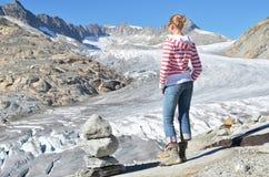 Rhone glacier. Switzerland Stock Image