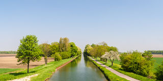 Rhone - Rhine Canal in Alsace - France Royalty Free Stock Image