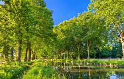 The Rhone - Rhine Canal in Alsace, France Stock Image
