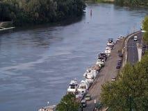 Rhone river in Avignon, France. Rhone river bank in Avignon, France Royalty Free Stock Image