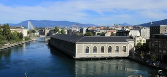 Rhone river, Geneva, Switzerland Stock Image