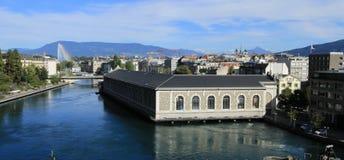 Rhone river, Geneva, Switzerland Stock Image