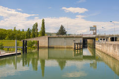 Rhone River Lock, France Royalty Free Stock Photo
