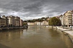 Rhone river Lyon Royalty Free Stock Photography