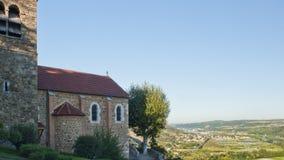 Rhone River Valley cerca de Vienne fotografía de archivo