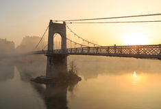 Rhone sunrise Stock Image