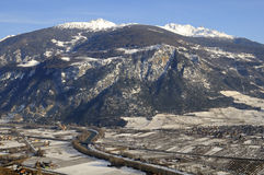 Rhone valley near Sierre Stock Photo