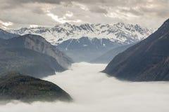 Rhone valley - Switzerland. Royalty Free Stock Image