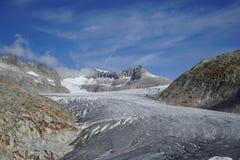 Rhoneglacier in Svizzera immagini stock