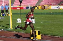 RHONEX KIPRUTO van Kenia wint eerste goud in 10,000m bij de IAAF-Wereldu20 Kampioenschappen in Tampere, Finland op 10 Juli, 2018 Stock Foto's
