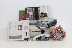 Rhos électroniques de raee de chute Image stock