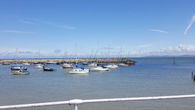 Rhos στο λιμάνι θάλασσας Στοκ Εικόνες