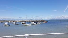 Rhos on sea harbour Stock Photo