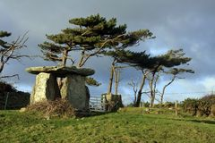 Rhoscolyn Burial Chamber Royalty Free Stock Images
