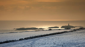 Rhoscolyn in winter Royalty Free Stock Images