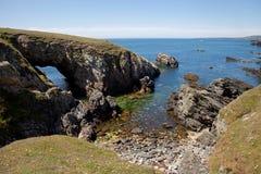 Rhoscoyn Küstenlinie stockfoto