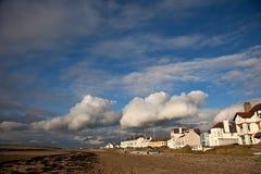 Rhosneigr Dorf und Strand Stockfoto