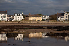 Rhosneigr Village and beach Royalty Free Stock Images