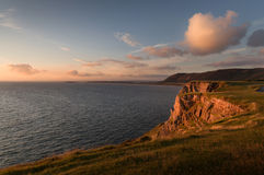 Rhossili Bay cliffs, South Wales Stock Photo