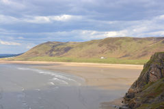Rhossili Bay on the Gower Peninsular, Wales Stock Images