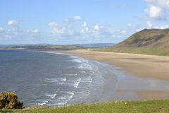Rhossili Bay on the Gower Peninsular, Wales, UK Royalty Free Stock Images