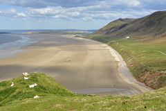 Rhossili Bay on the Gower Peninsular, Wales, UK Stock Photography