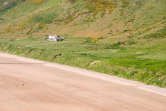Rhossili Bay View From The Cliff royalty free stock image