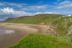 Rhossili Bay Wales UK Stock Photo