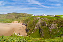 Rhossili Bay Wales UK Stock Photography