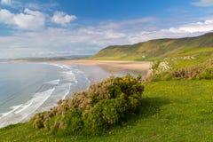 Rhossili Bay Wales UK Stock Photos