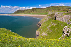 Rhossili Bay Wales UK. Overlooking Rhossili Bay on the Gower Peninsula, Wales UK Europe Stock Image