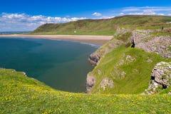 Rhossili Bay Wales UK Stock Image