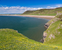 Rhossili Bay Wales UK Royalty Free Stock Photos