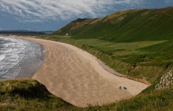 Rhossili Beach. Rossili beach, the Gower peninsula, South Wales UK Royalty Free Stock Photo