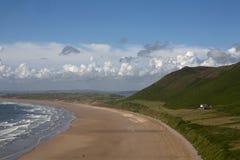 Rhossili Beach, Gower Peninsular. Royalty Free Stock Images