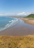 Rhossili beach The Gower Wales one of the best beaches in the UK Stock Image